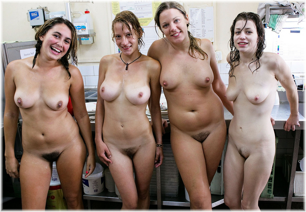 Party girls naked with some hairy twats - Nubile Babes