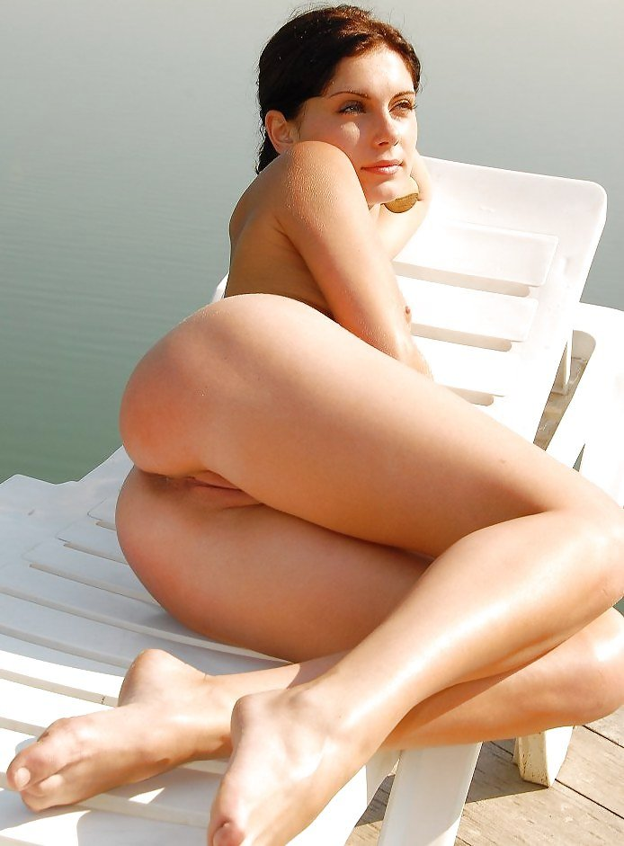 Sweet Hot Naked Babe Lounging Outside