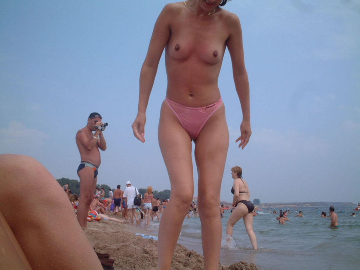 Nude Pink Beach Babe
